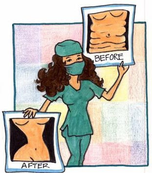 plastic surgeon illustration